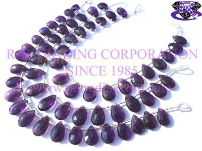 Amethyst (African) Faceted Pear (Quality A+)